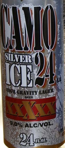 Camo Silver beer Label Full Size