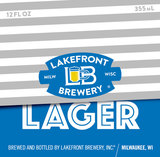 Lakefront Lager beer