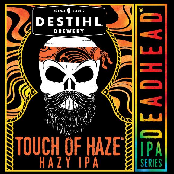 DESTIHL Deadhead IPA Series: Touch of Haze beer Label Full Size