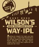 East Rock Wilson's Way IPL beer