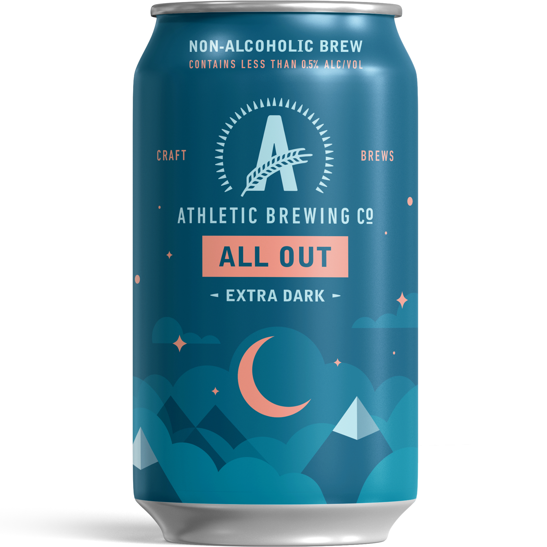 Athletic All Out NA Stout beer Label Full Size