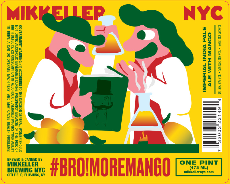 Mikkeller NYC #Bro!MoreMango beer Label Full Size
