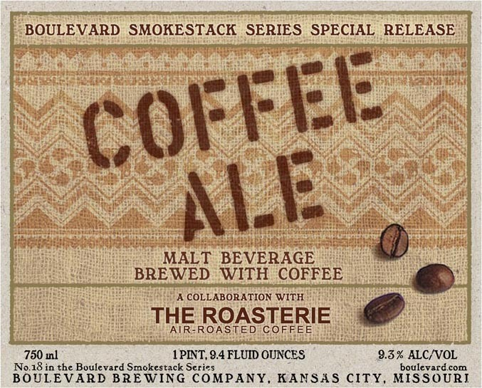 Boulevard Coffee Ale (Smokestack Series No. 18) beer Label Full Size