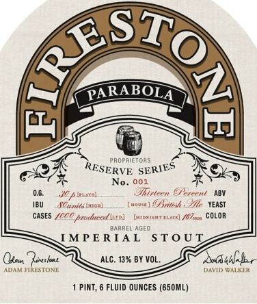 Firestone Walker Parabola 2013 Beer