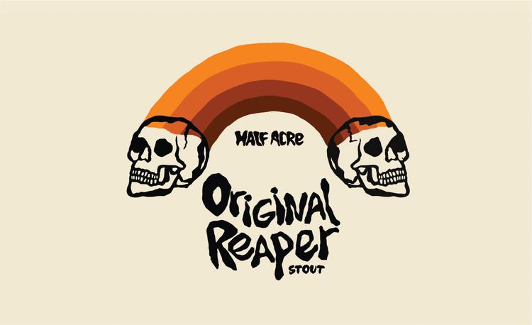Half Acre Original Reaper beer Label Full Size