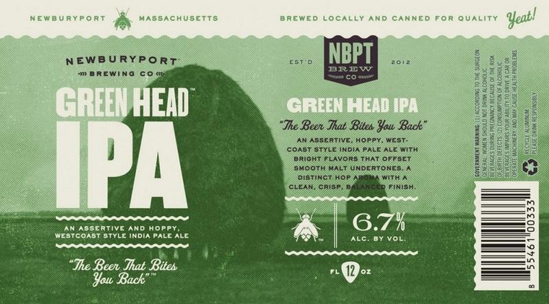 Newburyport Green Head IPA beer Label Full Size