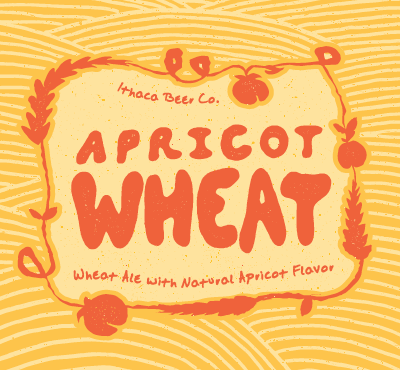 Ithaca Apricot Wheat beer Label Full Size