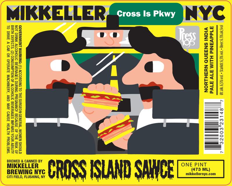 Mikkeller NYC Cross Island Sawce beer Label Full Size