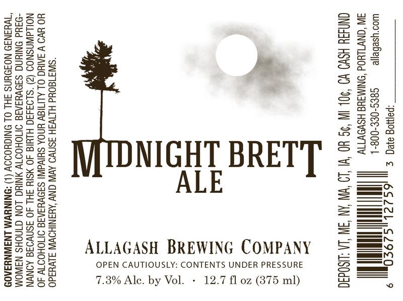 Allagash Midnight Brett beer Label Full Size
