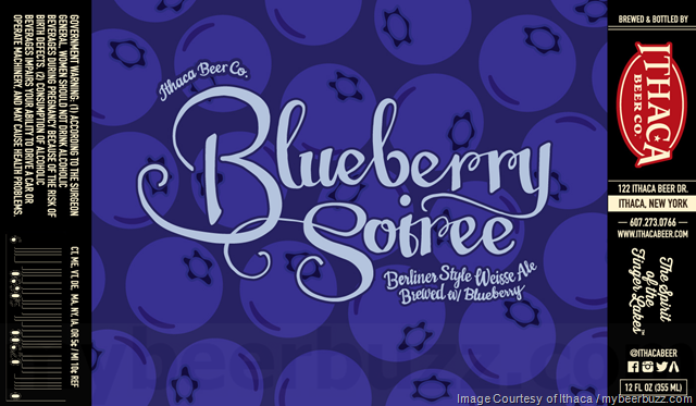 Ithaca Blueberry Soiree beer Label Full Size