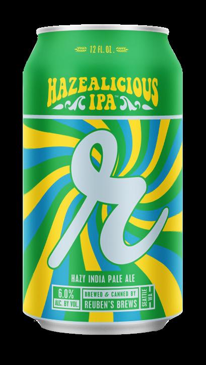 Reuben's Hazealicious beer Label Full Size
