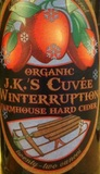 J.K.'s Cuvée Winterruption Farmhouse Hard Cider beer