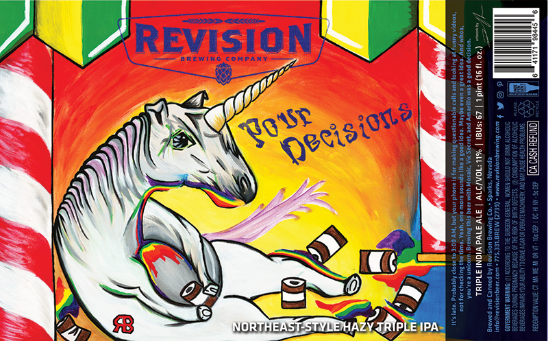 Revision Pour Decisions NE Style IPA beer Label Full Size