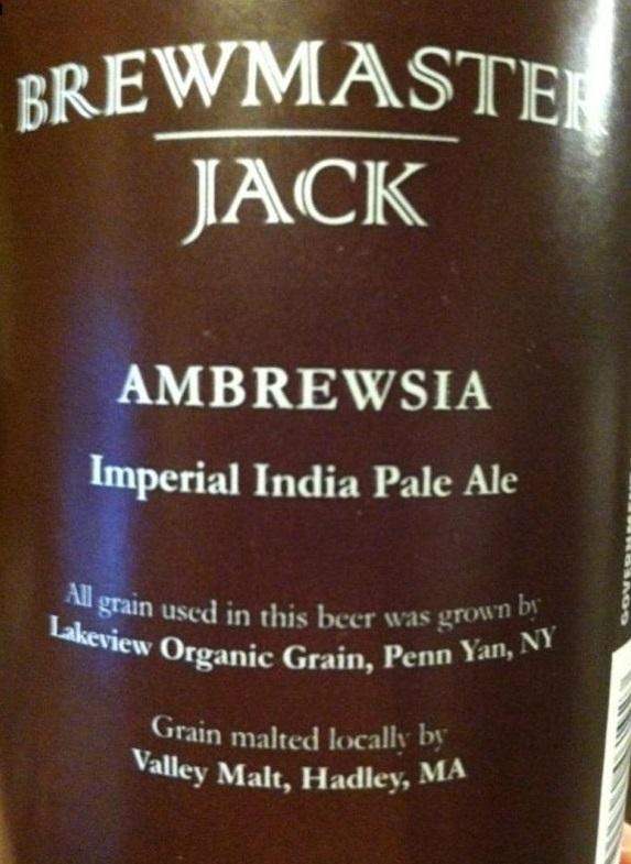 Brewmaster Jack Ambrewsia beer Label Full Size