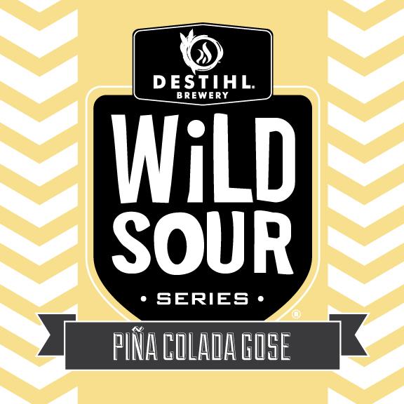 DESTIHL Wild Sour Series: Piña Colada Gose beer Label Full Size