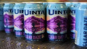 Uinta Clear Daze Juicy beer Label Full Size