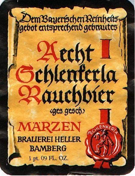 Aecht Schlenkerla Rauchbier Märzen beer Label Full Size