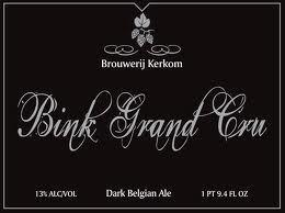 Kerkom Bink Grand Cru beer Label Full Size