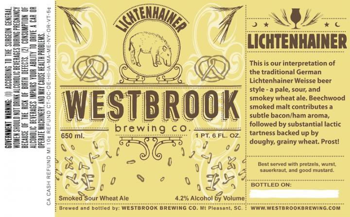 Westbrook Lichtenhainer beer Label Full Size