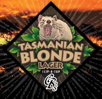 Custom Brewcrafters Tasmanian Lager beer Label Full Size