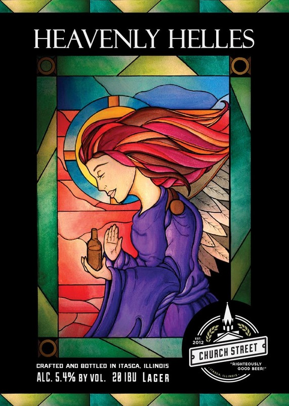 Church Street Heavenly Helles beer Label Full Size