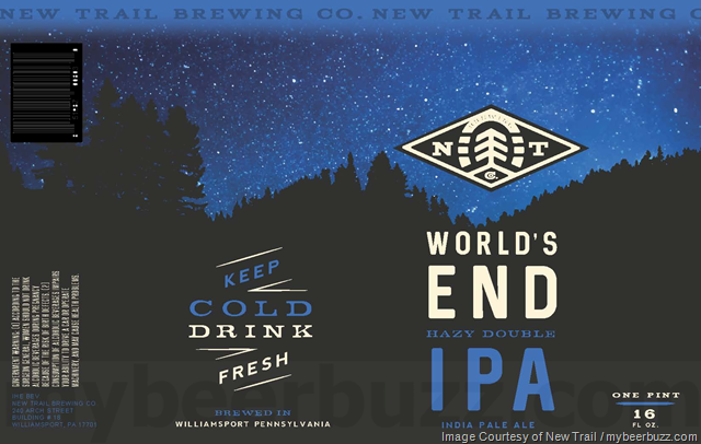 New Trail World's End beer Label Full Size