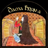 Loverbeer Dama Brun-a beer Label Full Size