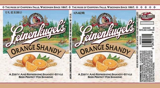 Leinenkugel's Orange Shandy beer Label Full Size