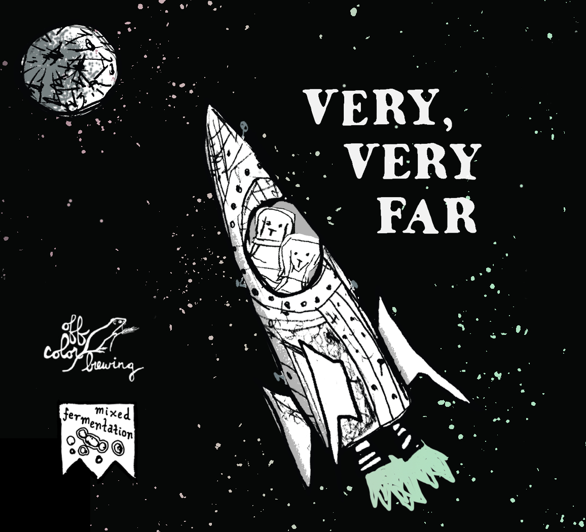 Off Color Very Very Far beer Label Full Size