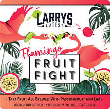 Bell's Larry's Latest Flamingo Fruit Fight beer Label Full Size