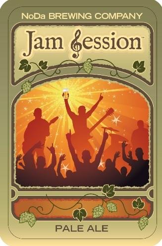 NoDa Jam Session beer Label Full Size