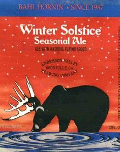 Anderson Valley Bahl Hornin Winter Solstice beer Label Full Size