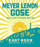 East Rock Meyer Lemon Gose beer