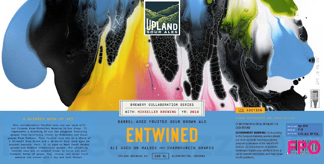 Upland/Mikkeller Untwined beer Label Full Size