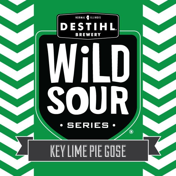 DESTIHL Wild Sour Series: Key Lime Pie Gose beer Label Full Size
