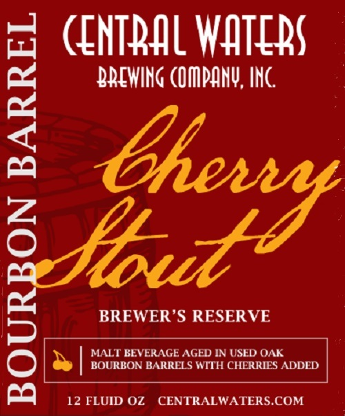 Central Waters Bourbon Barrel Cherry Stout 2017 Beer