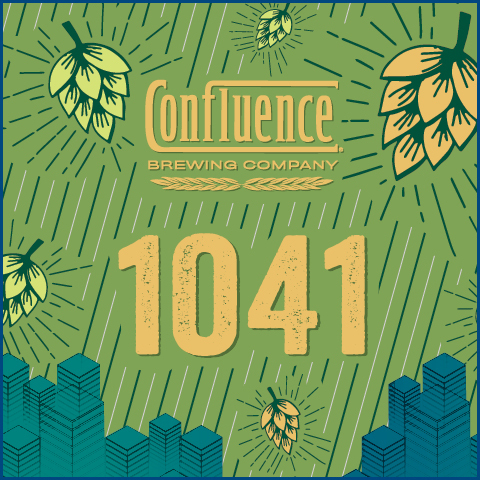 Confluence 1041 beer Label Full Size