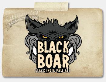Lancaster Black Boar IPA beer Label Full Size