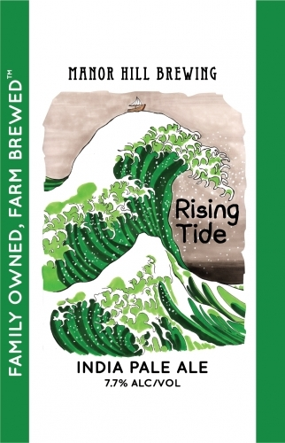 Manor Hill Rising Tide beer Label Full Size