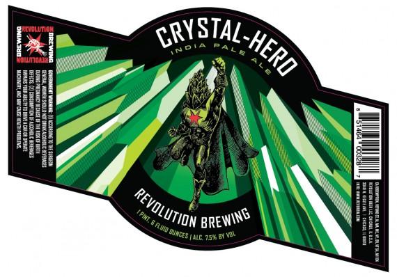Revolution Crystal Hero beer Label Full Size
