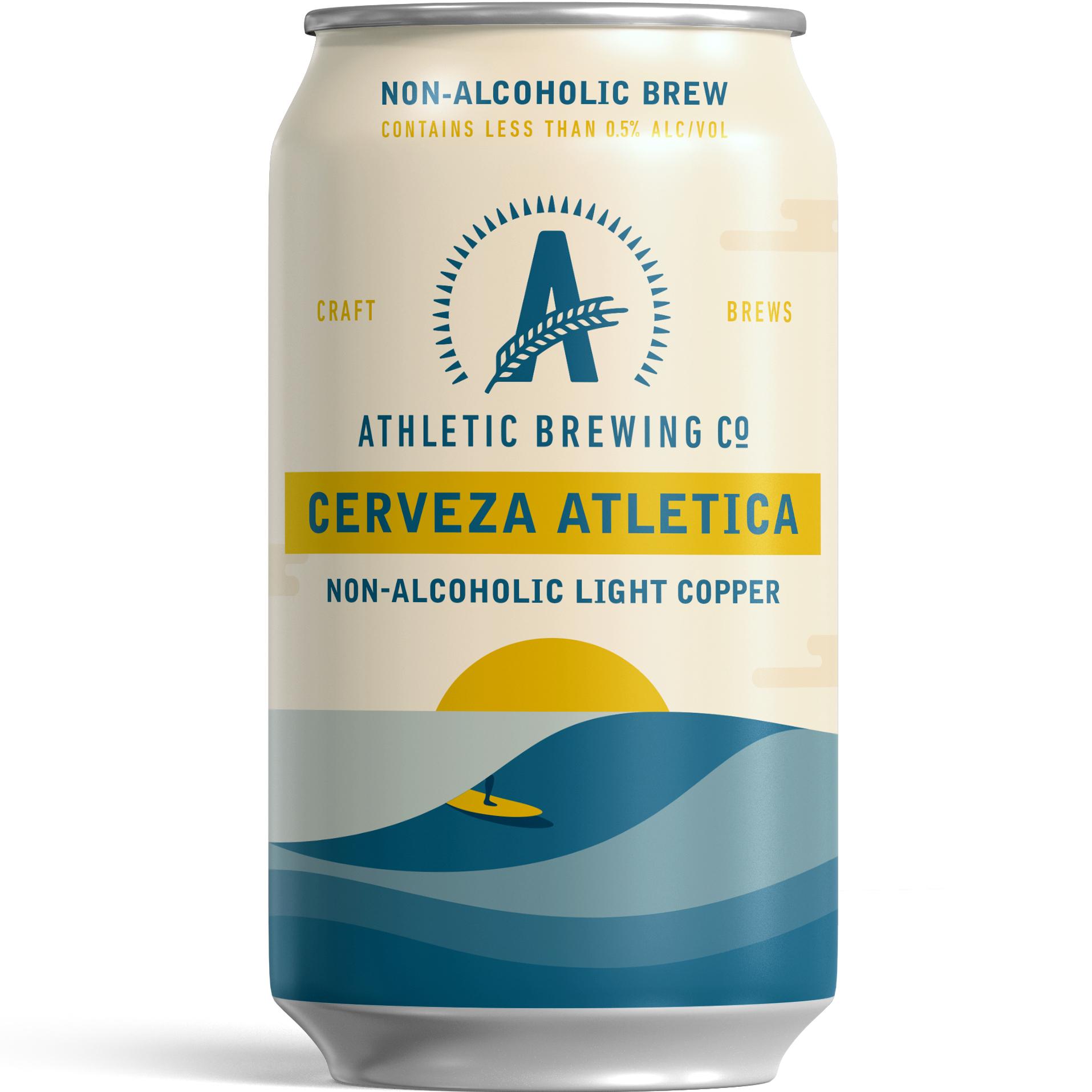 Athletic Cerveza Atletica NA Light Copper beer Label Full Size