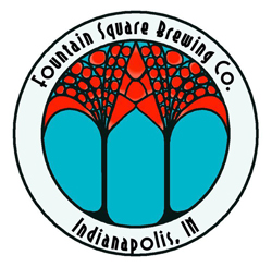 Fountain Square Coffee Hour beer Label Full Size