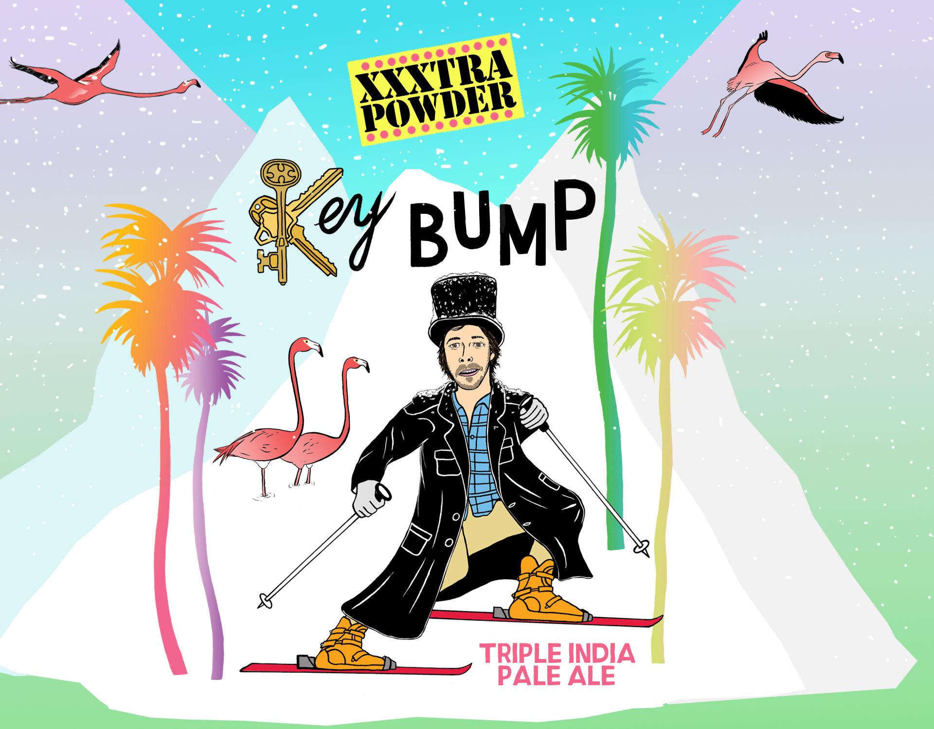 Key Bump XXXtra Powder beer Label Full Size