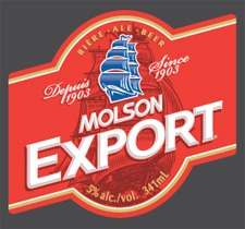 Molson Export Ale beer Label Full Size