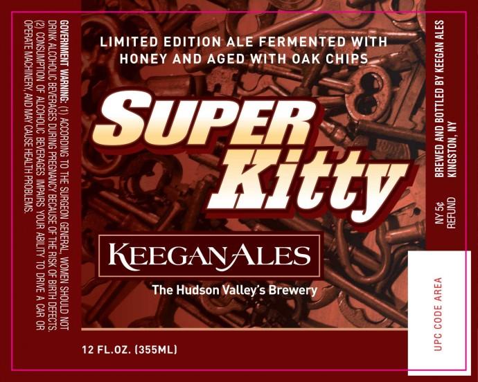 Keegan Super Kitty 2012 beer Label Full Size