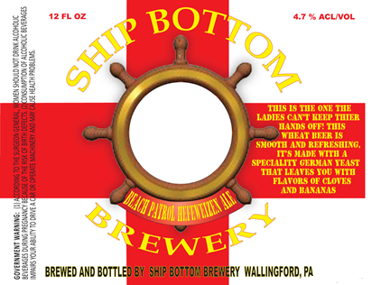 Ship Bottom Beach Patrol Hefeweizen beer Label Full Size