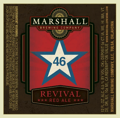 Marshall Revival Red beer Label Full Size