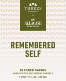 Threes / Allagash Barrel-Aged Remembered Self beer