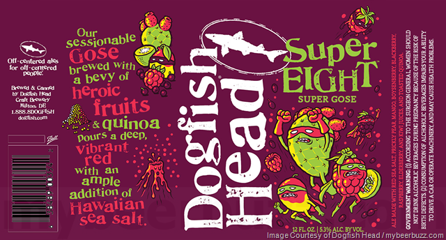 Dogfish Head SuperEIGHT beer Label Full Size