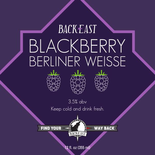 Back East Blackberry Berliner Weisse beer Label Full Size